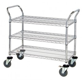 3 Shelf Mobile Utility Carts