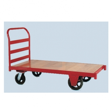 Wood Kiln-Dried Wood Deck Platform Truck W/ Steel Frame