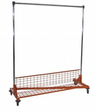 Z-Rack With <br>Fold Up Bottom Shelf<br>& Add-On Hangrail<br>